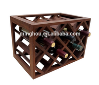 11 bottle wooden wine storage racks, practical wooden wine bottle holder