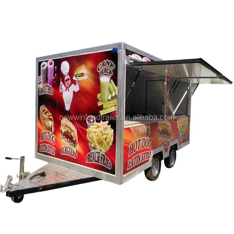 Hot Selling food kiosk truck trailer with ISO CE