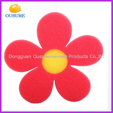 flower shape funny baby bath sponge kids bath toy