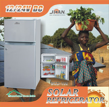 double-door 12V 24V dc compressor feature and solar power refrigerator freezer fridge home appliances