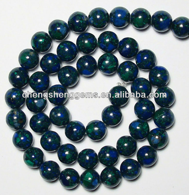 8mm synthetic azurite malachite/Chrysocolla beads