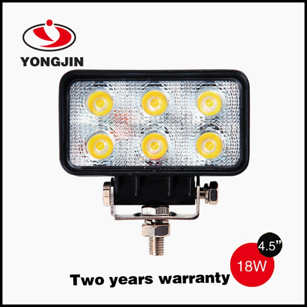 High brightness 18w flood light for offroad SUV cars led working light bar