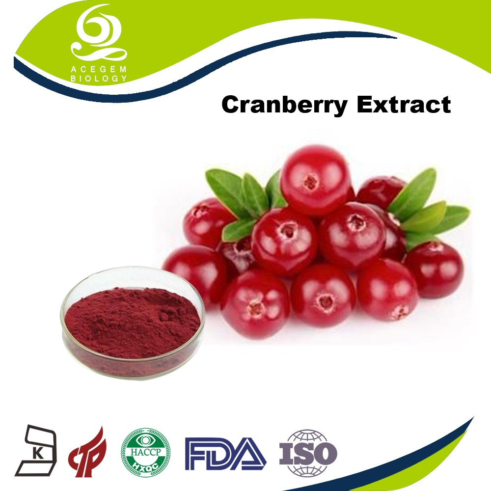 Chinese Supplier Natural Bilberry Extract In Bulk / Cranberry Juice Extract Powder
