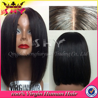 Wholesale virgin human peruvian hair full lace wig for black woman
