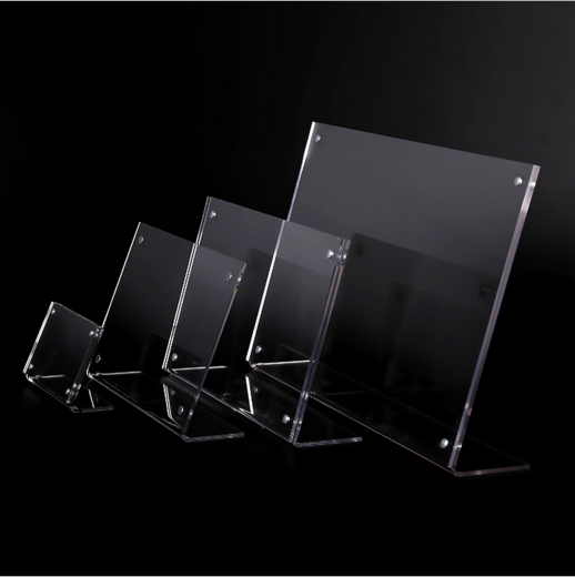 acrylic table tent number card holder