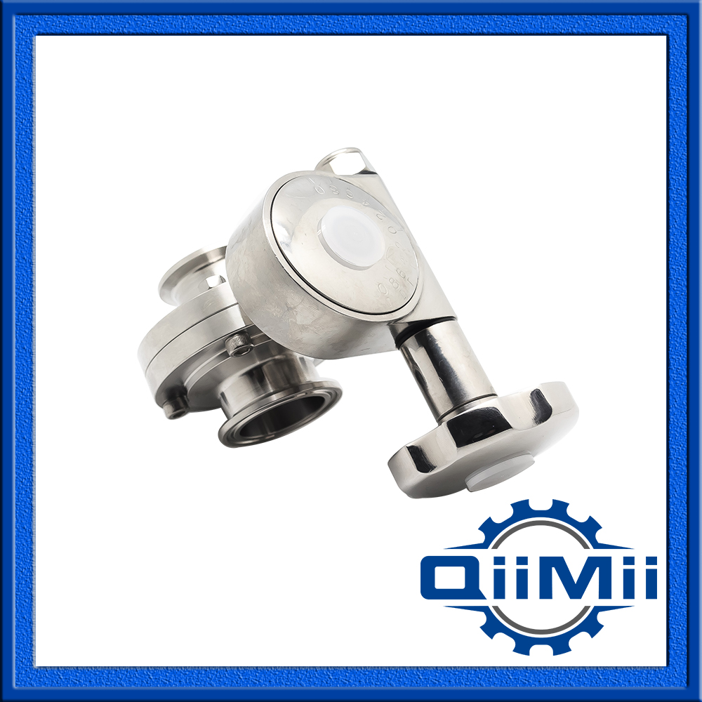 DN150 Manual Control Butterfly Valve With Fine Adjustment, DIN Standard Of Clamp End