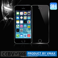 Best Price $0.85/Piece NO Packing 0.33mm 2.5D Anti Shock High Clear Tempered Glass Screen Protector For iPhone 5s