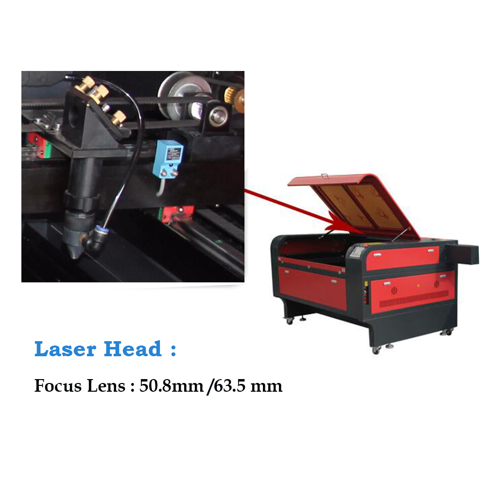 High speed 60w co2 moving laser cutting head for laser cutting machine