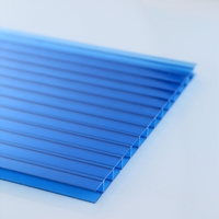 greenhouse roofing twin wall hollow plastic polycarbonate sheet with good price