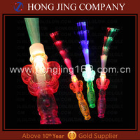 LED fiber optic light up wand