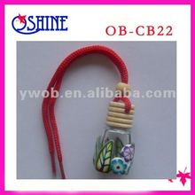 Colorful Haging Car Air Freshener Polymer Clay Bottle