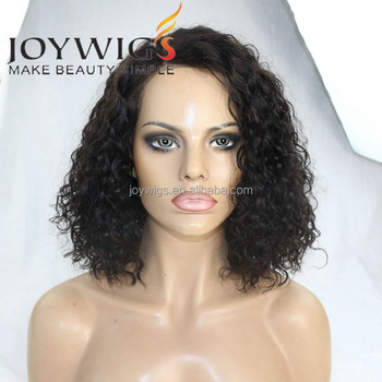 "2018 Hot Selling 180% Density 14Inch Curly Bob Wig 5"" Lace Front Wig"