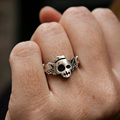 Personalized Fashion Silver Plated Mens Skull Ring