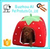 Lovely Strawberry Pet Dog Bed Soft Cotton Folding Indoor Cat House