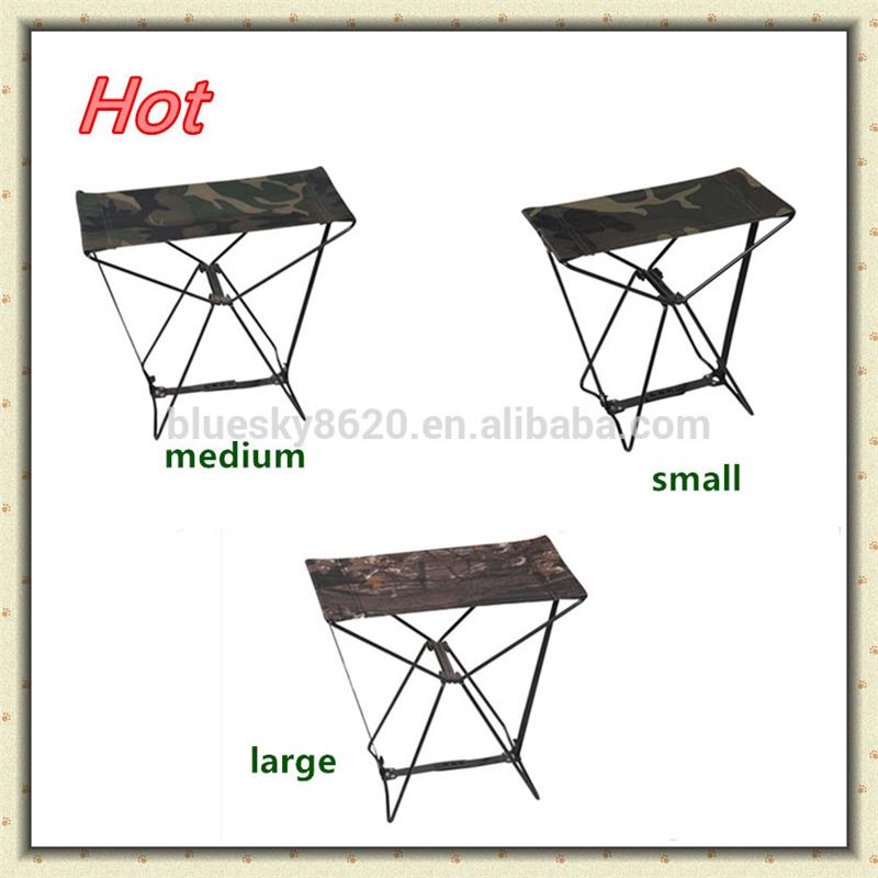 2017 outdoor portable camping fishing seat folding stool pocket stainless steel chair BS-043-M