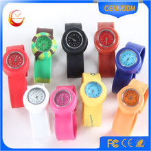 Christmas Promotion Gift Analog Colorful Silicone Straps Slap Watch
