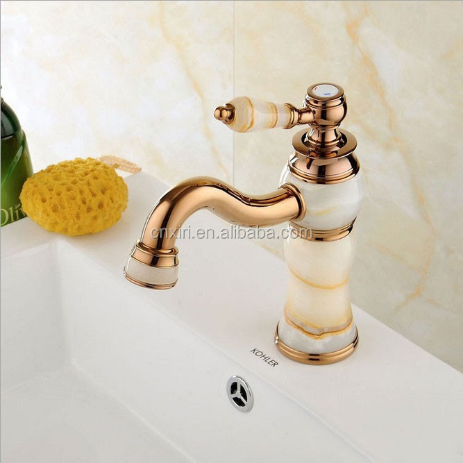 Luxury New Natural Marble Decoration Bathroom Lavatory Basin Vessel Sink Mixer Tap Plumbing Faucet Sanitary Ware D8071