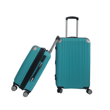 China Alibaba Popular Colorful Hard ABS+PC Material 2PCS Trolley Cases