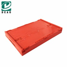 Large Foldable Folded Plastic Mesh Crate For Vegetables