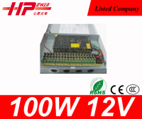 Manufacturer CE RoHS approved constant voltage single output AC DC regulated switching 8A 100W 12V 18ch CCTV power supply