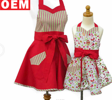 Fashionable Mother Daughter Floral Retro Sexy cotton Apron Set Mother and Daughter Matching Floral Aprons