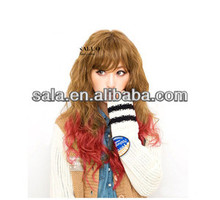 Wholesale Wavy Fashion New Punk Style Wig Synthetic Costume Fashion Wig Cosply Cheap Wig