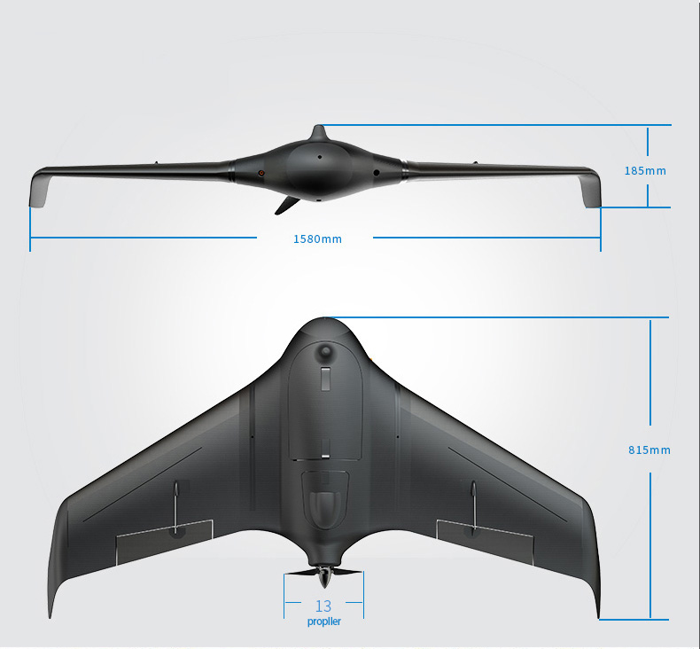 FeiyuTech new Unicorn uav drones professional plane aerial survey mapping