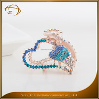 High quality diamond heart hair accessories wholesale fashion hair jewelry