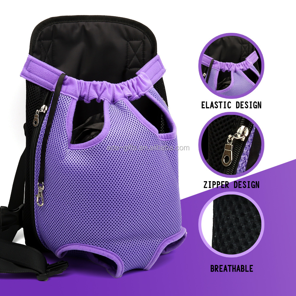 2017 New Design Front Pet Cat Dog Backpack Convenient Lightweight Outdoor Travel Pet Carrier Bag