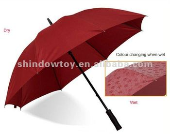 Fashion colour changing umbrella, Colour change golf umbrella