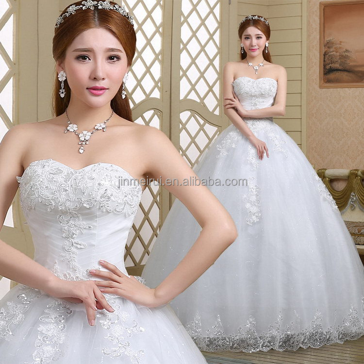 2017 wedding dress sweetheart neckline off the shoulder ball gown wedding party dress Tulle Fabric
