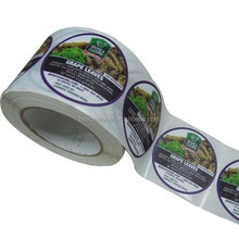 Custom Round Roll Adhesive Paper Printed Pasta Food Packaging Labels
