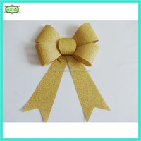 Gold christmas bow 2014 christmas decoration