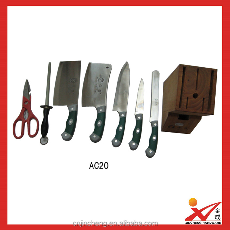 popular 1 set kitchen knife 7 pieces AC20