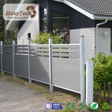 modern design decorative wood plastic composite yard fence gate