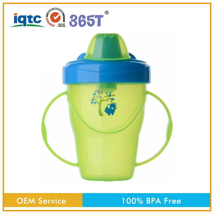 BPA free PP non-toxic silicone anti-broken miracle baby 360 sippy cup with two handles