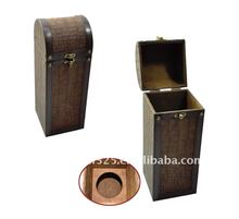 special pu leather antique wine box