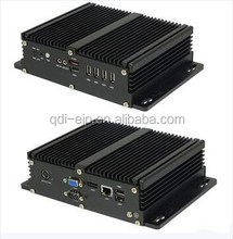 Embedded Fanless Mini PC Integrated Inter Atom CPU NVIDIA Chipset 8*USB 1 x VGA 1 x HDM I 2 *RS-232/485