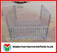 Galvanized and folding steel storage cage/Wire container