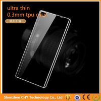 New Products Crystal Clear Soft TPU Gel Slim Transparent Case For huawei ascend p8 lite