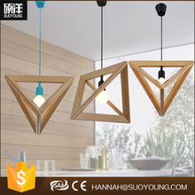 2016 New products China light supplier Alibaba wholesale cute fancy wood pendant light (MD20014-1)