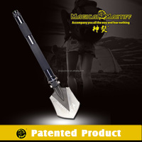 Newest Tactical Survival Gear Multifunction Shovel with Hammer Hoe Cutter Axe Knife Whistle Magnesium Flint