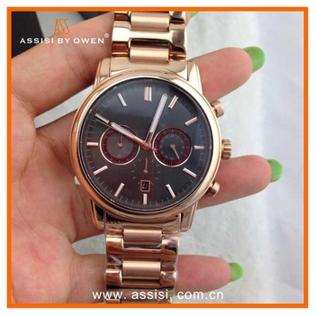 Assisi fashion type watch men luxury,quartz japan movt watch men luxury