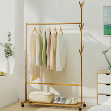 Multi functional new style coat rack hot sale bamboo clothes stand