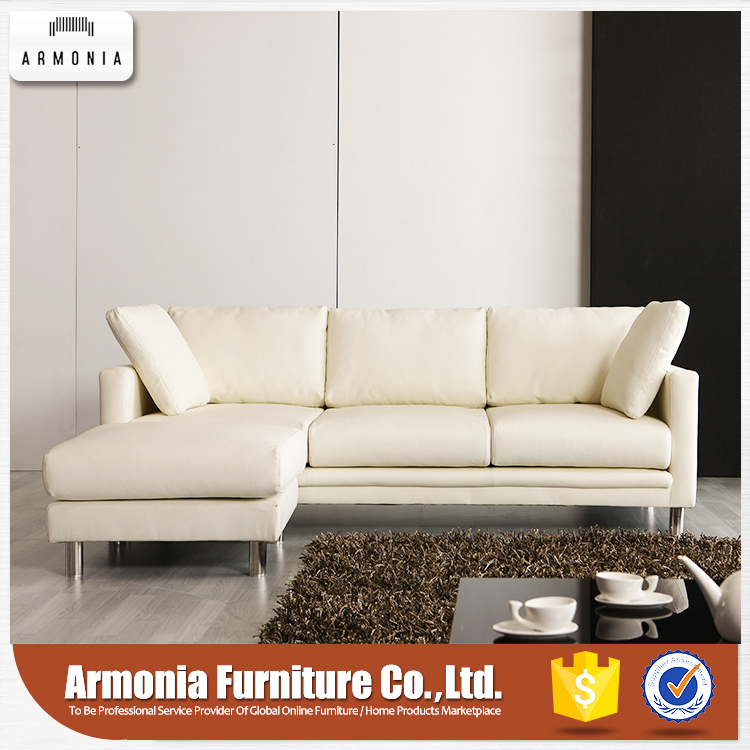 Furniture living room corner genuine leather sofa set