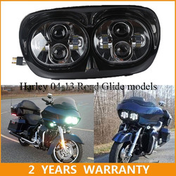 /HG-839A2/ Car Double Light Lens LED Headlight for harley dual motorcycle headlamps