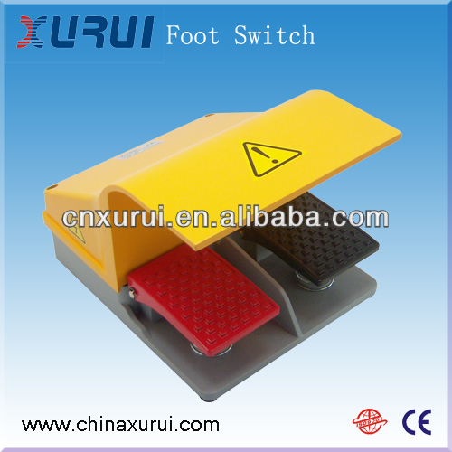 2NC2NO TUV&RoHS Slow Action type heavy-duty push button floor lamp foot switch model FS-87