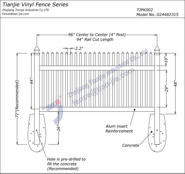 Easy Installation Pvc Garden Fence Buy Pvc Garden Fence