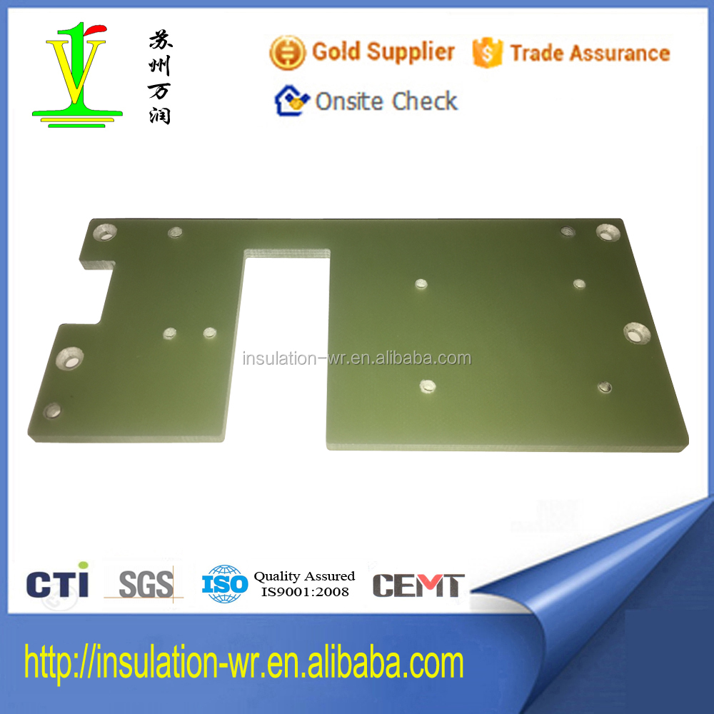 Insulation Machining Parts Made Of Green FR-4 Epoxy Resin Laminated Board Processed By CNC Machine Center