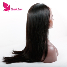 Cuticle Aligned Virgin Hair Elastic Band Brazilian Hair Glueless Front lace wig